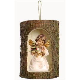 Bell angel with tree in a tree trunk hanging