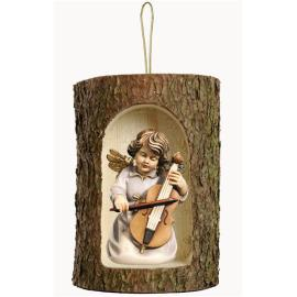 Bell ang.w.double-bass in a tree trunk hanging