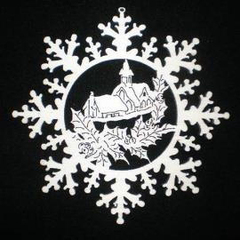 Snow star with chapel
