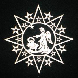 Star with stars and guardian angel