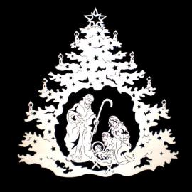 Christmas tree with Holy Family