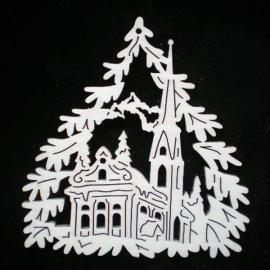 Tree with church