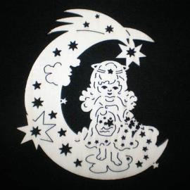 Moon with angel